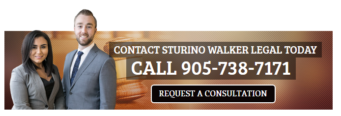 Contact Sturino Walker Legal Today - Call 905-738-7171