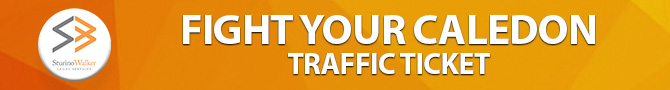 Right Your Caledon Traffic Ticket
